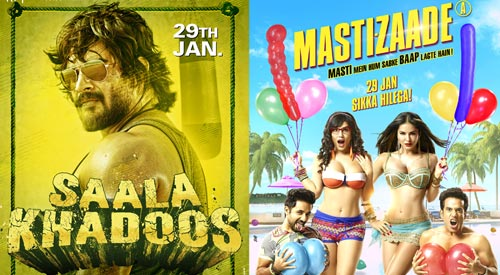Mastizaade and Saala Khadoos Box Office Prediction