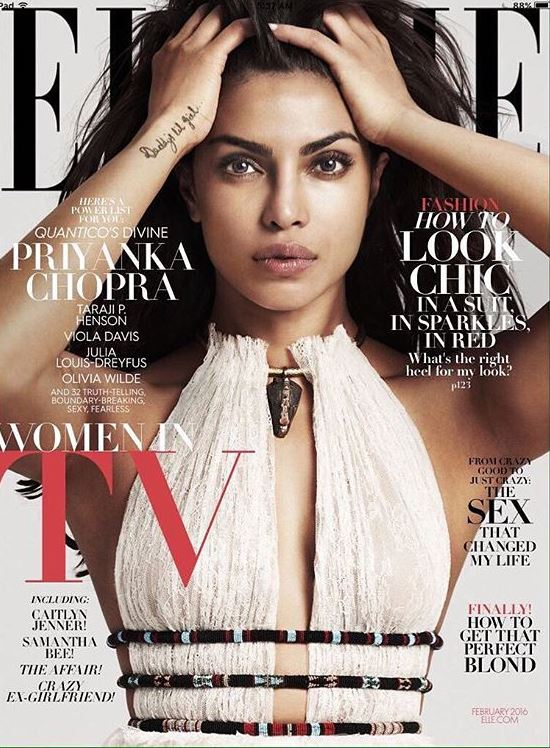 You won't be able to take your eyes off of Priyanka Chopra on the cover of Elle!