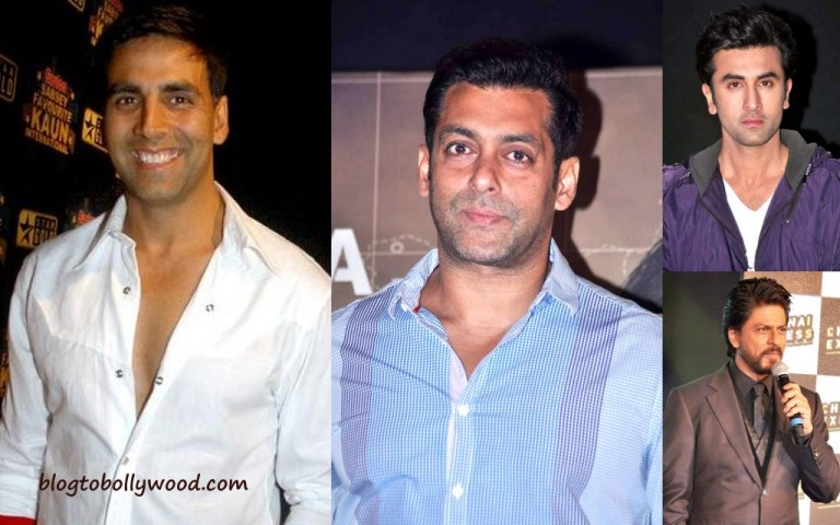 Salman Khan, Akshay Kumar, Ranbir Kapoor and Shahrukh Khan among the top taxpayers in India