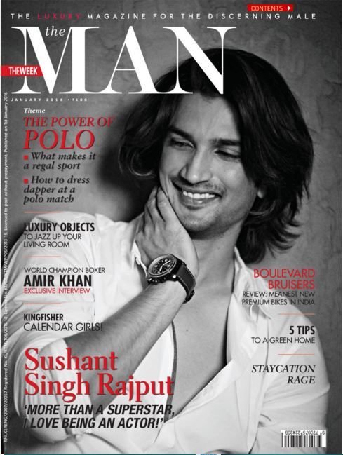 The Man Magazine Cover: Sushant Singh Rajput looks dashing in The Man's Photoshoot.