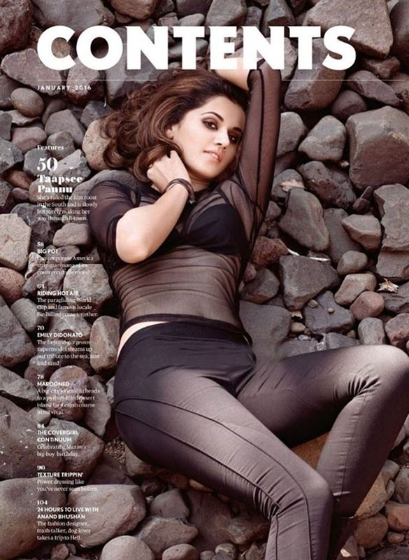 Taapsee on the cover of Maxim India Magazine - 6