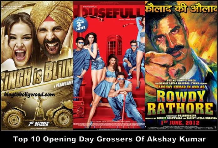 Akshay Kumar's Top 10 Opening Day Grossers: Biggest Hits Of Akshay Kumar