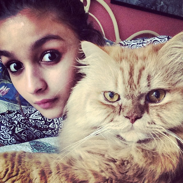 Alia with her cat