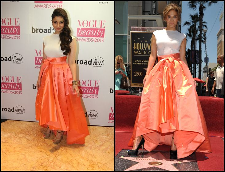 Bollywood Vs Hollywood- Who pulled off these dresses better? Alia-Jennifer