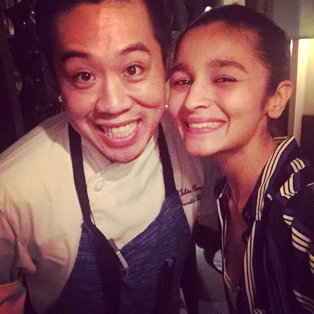 Alia With his Chef!