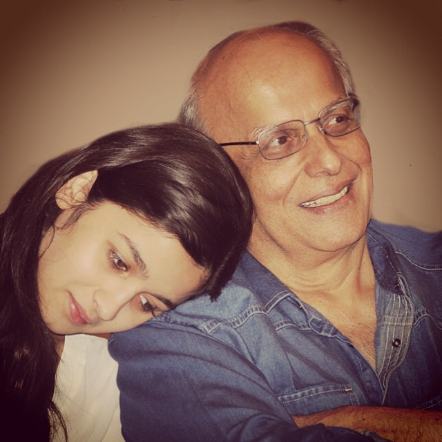 Alia Bhatt With Dad Mahesh Bhatt