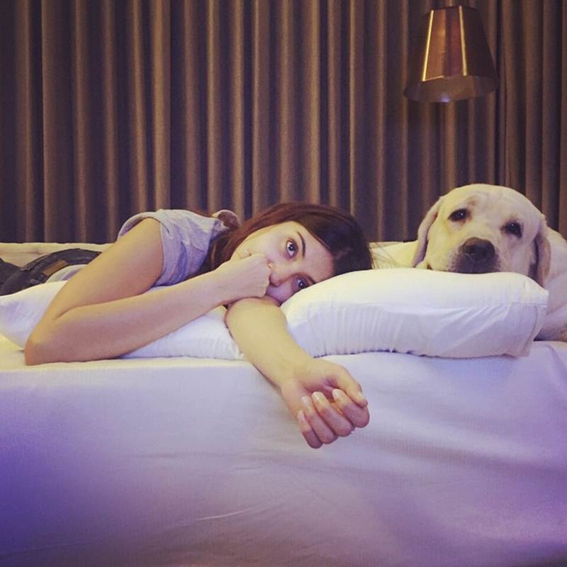 These Celeb Pet Selfies are so cute they will melt your heart right out!- Anushka 2