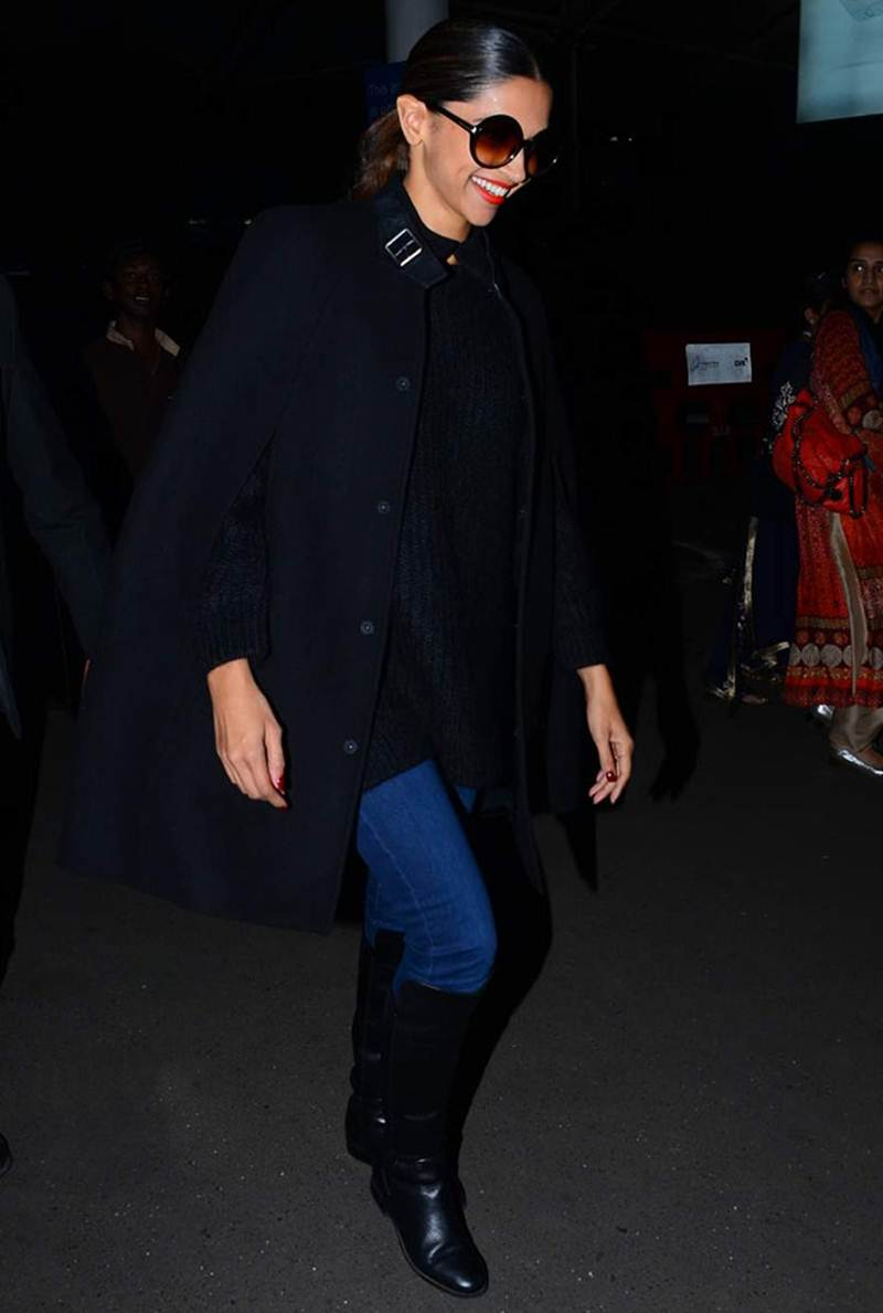 Airport Spotting | Get that Chic Look like our favourite Celebs for your next Journey- Deepika 1