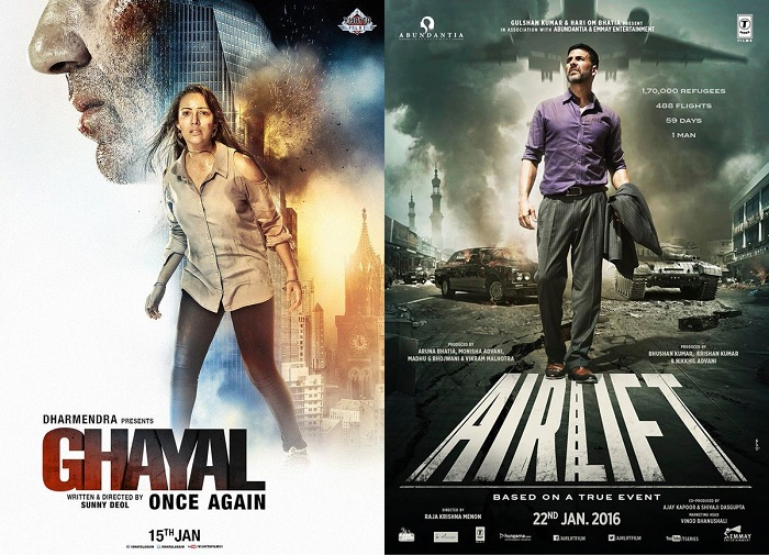 Box Office Report 10 Feb 2016 : Ghayal Once Again 5th Day, Airlift 19th Day Collection