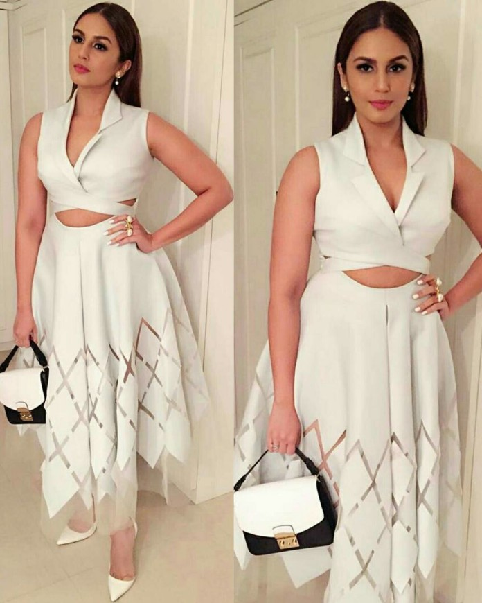 Huma Qureshi picks a lovely Dolly J outfit for Make In India Dinner - HUma