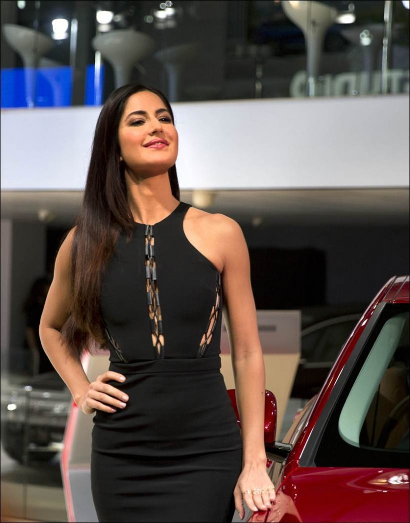 Black Beauties Katrina Kaif and Alia Bhatt turn up the heat at the Auto Expo 2016- Kat 3