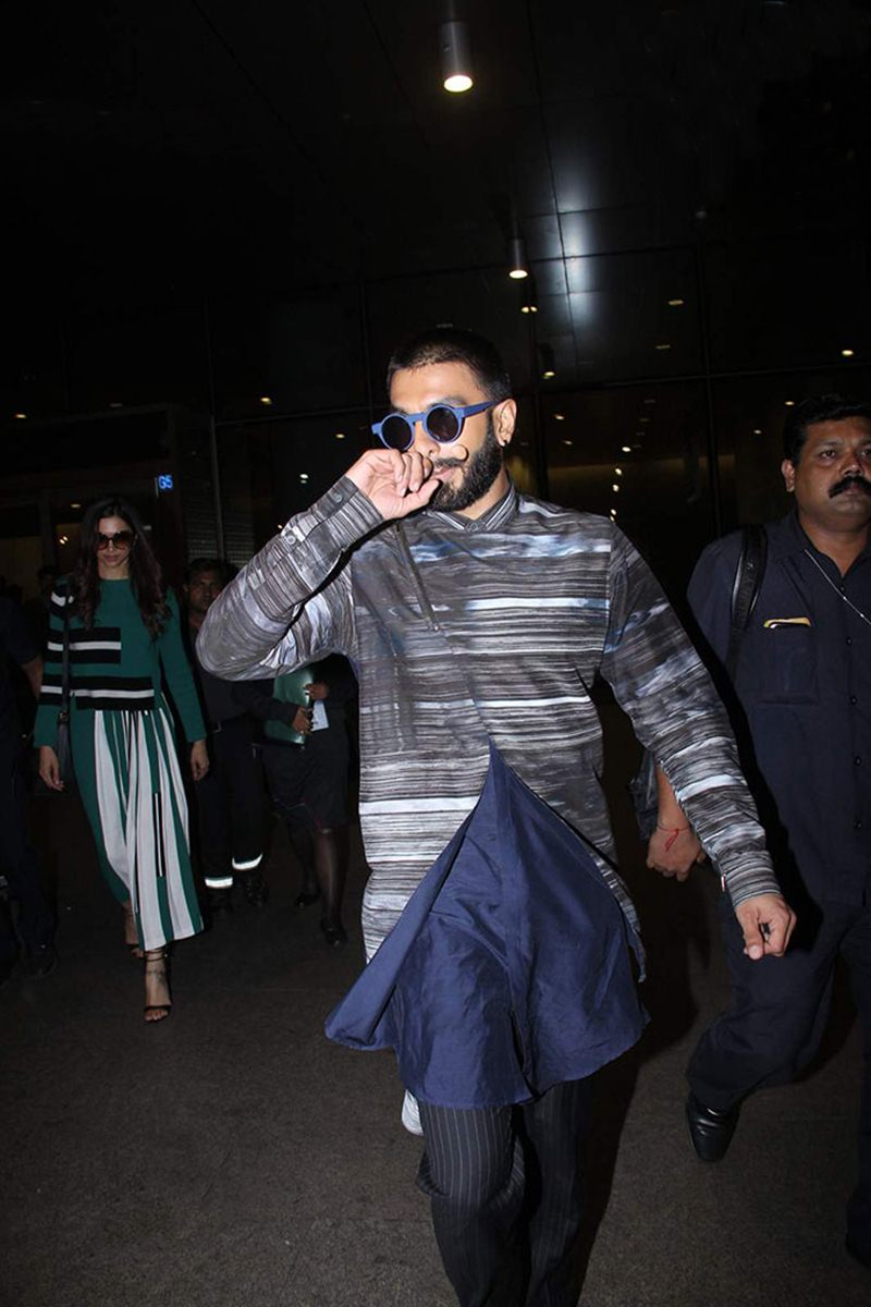 Airport Spotting | Get that Hunk Look like your favourite star for your next journey!- Ranveer 2