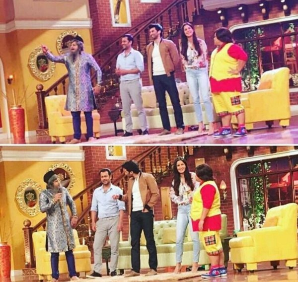 Woah! Salman Khan surprises Katrina Kaif on the sets of Comedy Nights Live