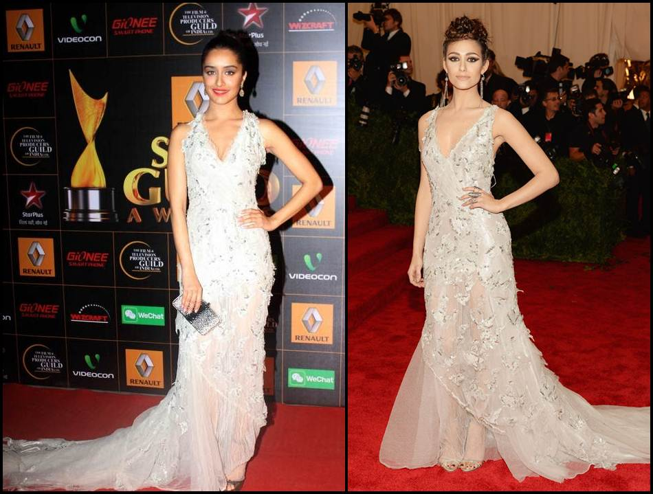Bollywood Vs Hollywood- Who pulled off these dresses better?- Shraddha-Emmy