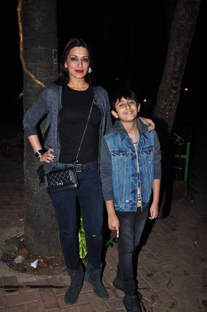 Sonali Bendre and her son 3