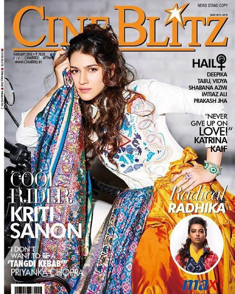 'Cool Rider' Kriti Sanon is the cover girl of CineBlitz Magazine March issue