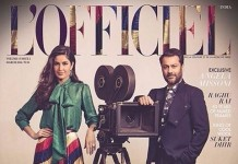Katrina Kaif and Abhishek Kapoor on Fitooristic gracious L'Officiel Magazine's March Cover