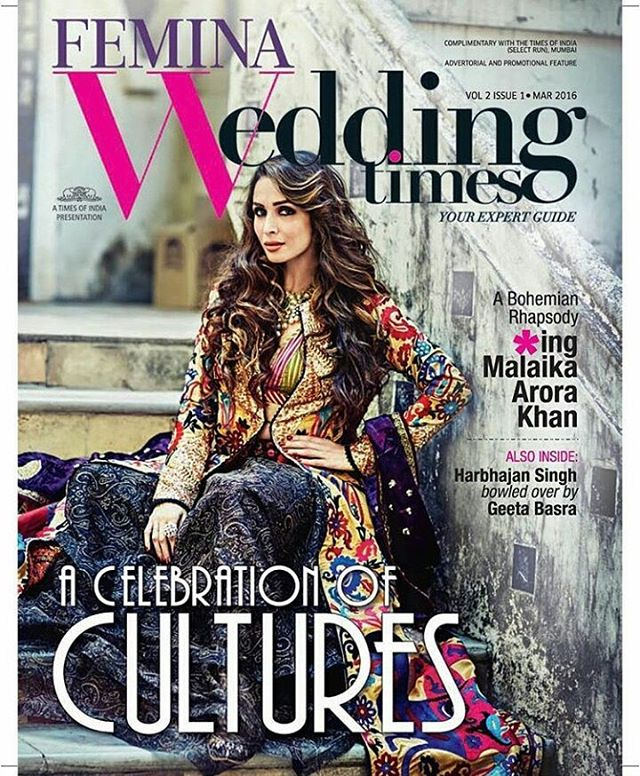 Malaika Arora Khan in Wedding Times March Edition