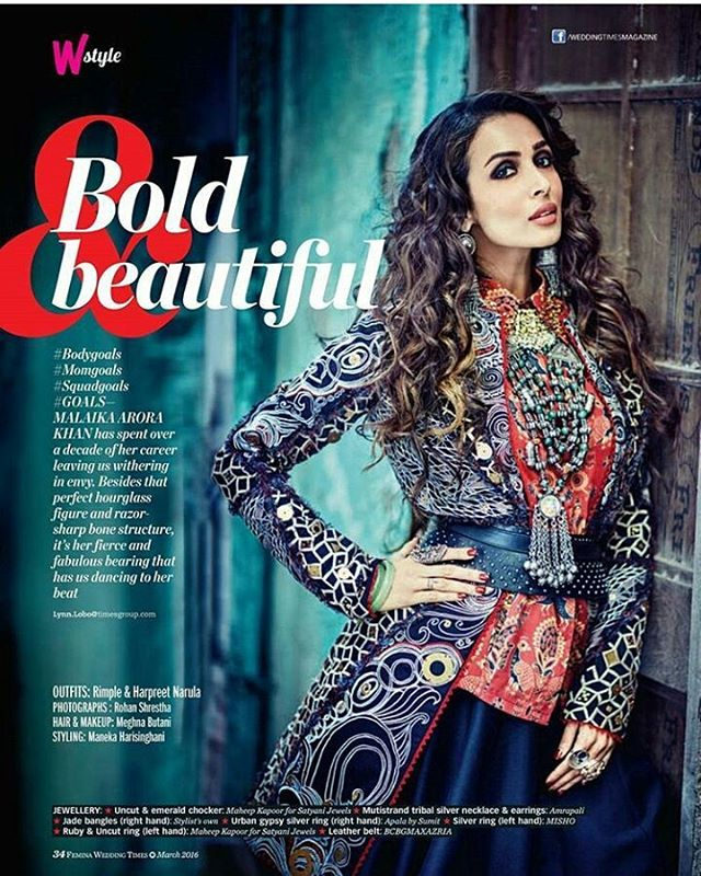Malaika as bold and beutiful
