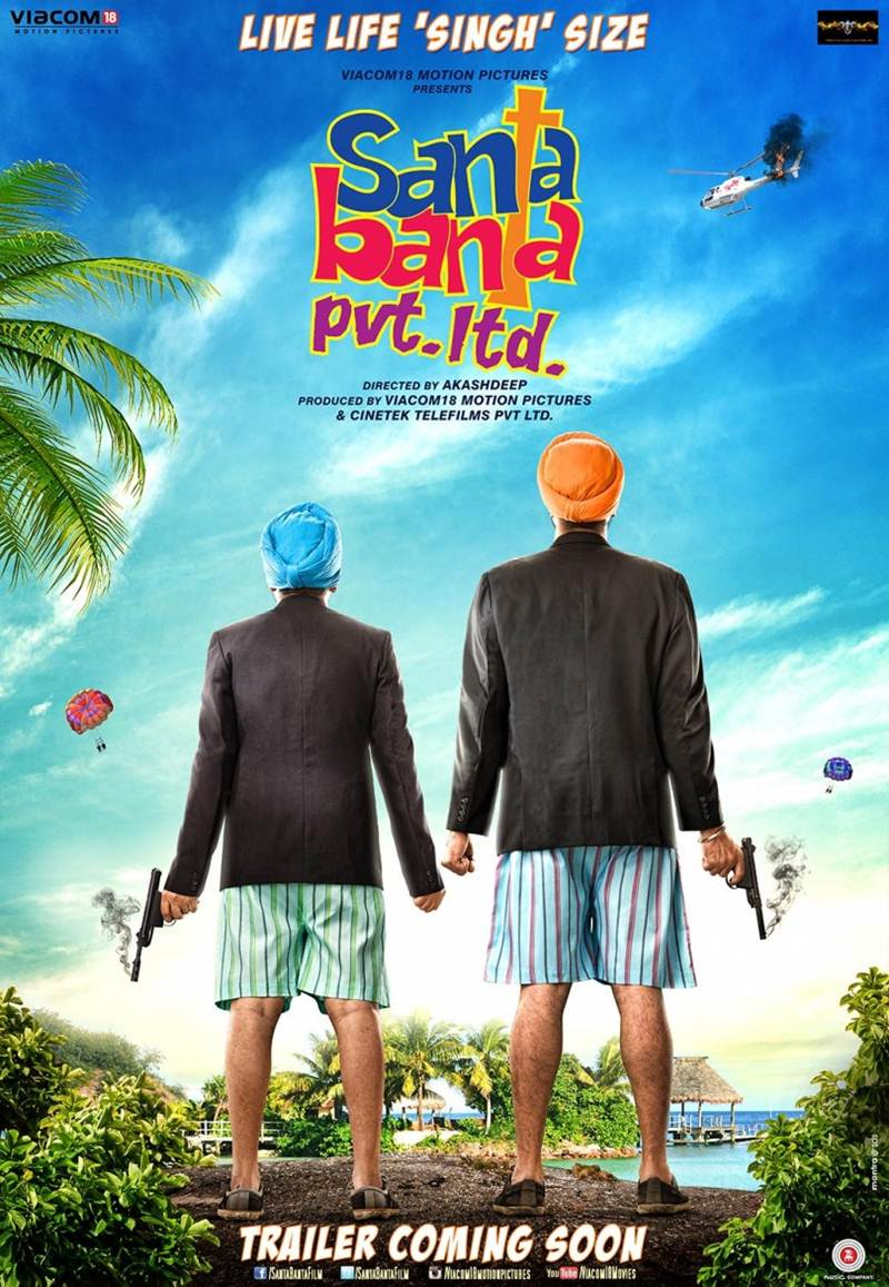 The Motion Poster of Santa Banta Pvt. Ltd. inspires you to Live Life 'Singh' Size!- Santa Banta
