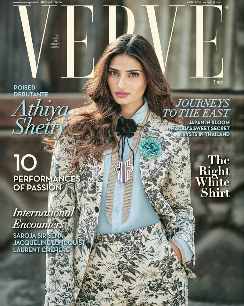 Athiya Shetty looks so poised on the cover of Verve India!