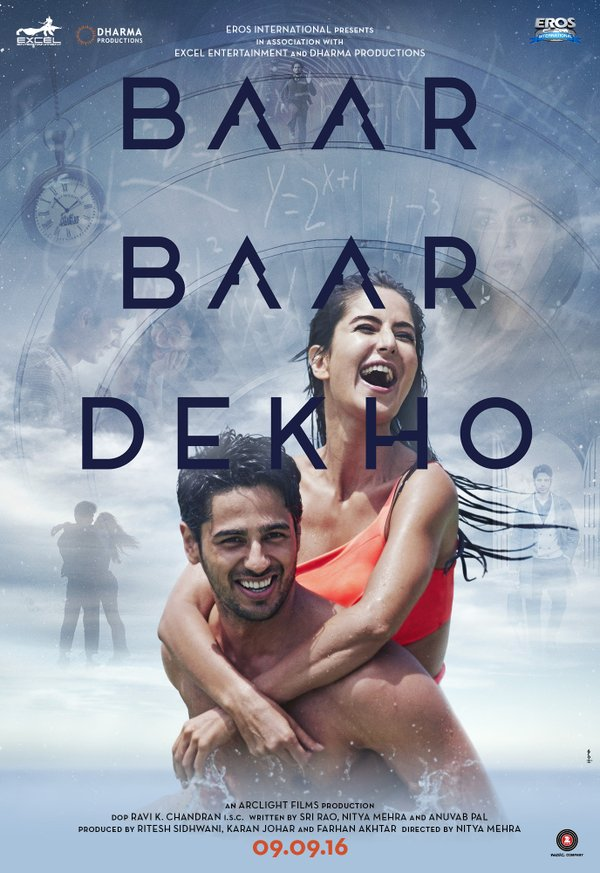 Sidharth and Katrina Sizzles In Baar Baar Dekho Poster