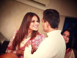 And the Celebrations have begun   Pictures of Bipasha Basu and Karan Singh Grover inside