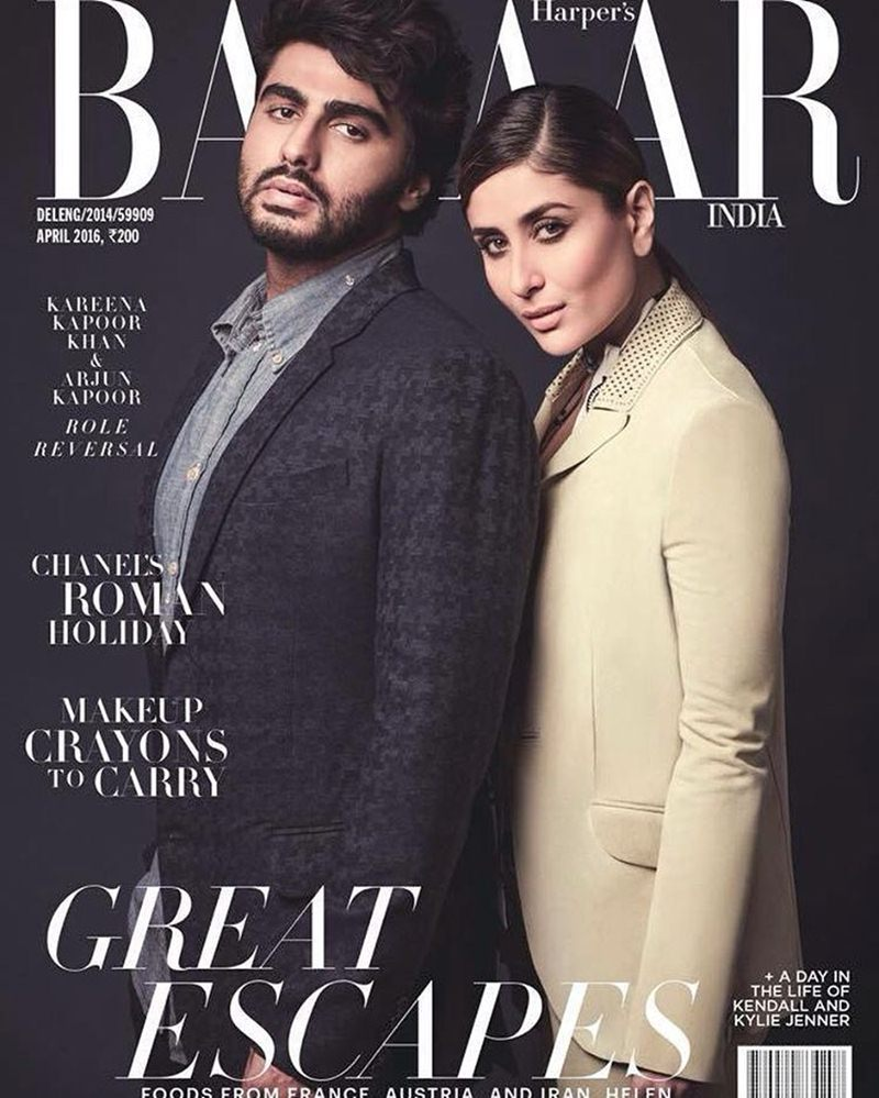 Arjun Kapoor and Kareena Kapoor Khan rule Harper's Bazaar India cover