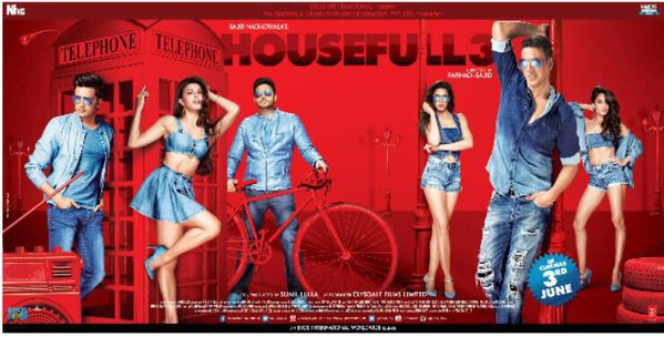 Check Out Housefull 3 New Posters Akshay, Jacqueline, Riteish, Nargis Wallpapers