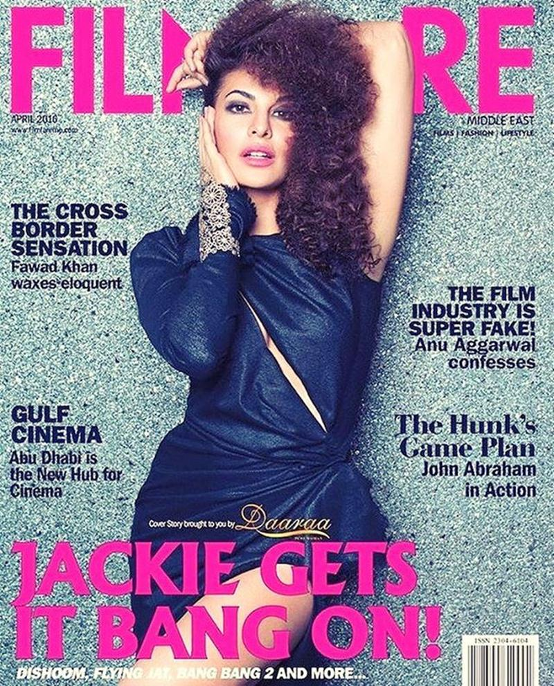 Jacqueline Fernandez sizzles the cover of three different magazines this month!- Filmfare