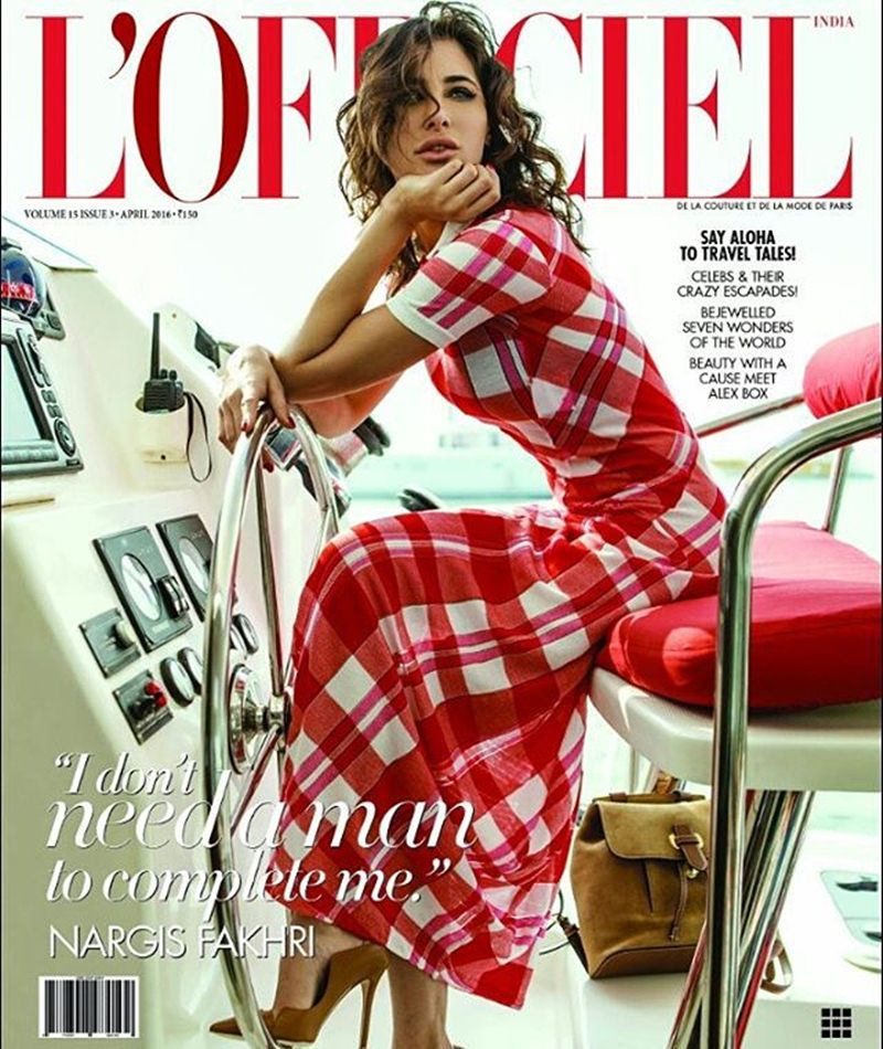 Nargis Fakhri scorches up the temperature in Femina India and L'Officiel India Cover- Nargis Lofficiel Cover