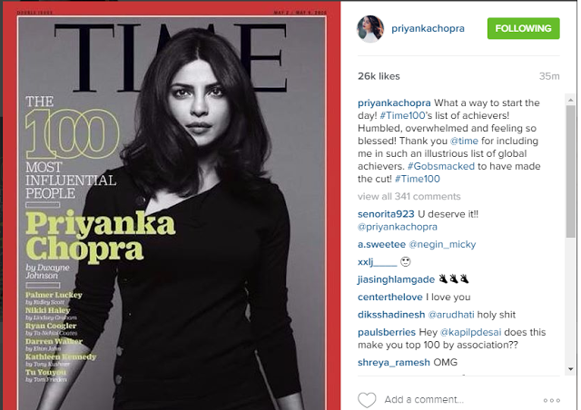 Dwayne Johnson Is Super Happy For Priyanka Chopra Being Featured On TIME Magazine