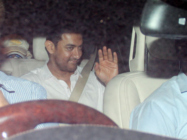 Aamir Khan arriving for gala dinner