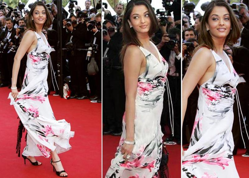 Aishwarya Rai Bachchan and Sonam Kapoor's various looks at Cannes over the years- Aish 2005 1