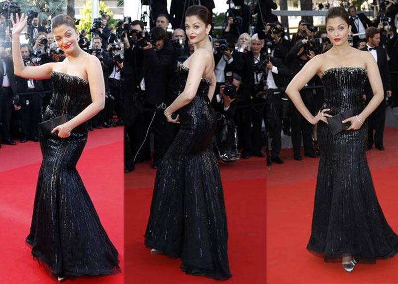 Aishwarya Rai Bachchan and Sonam Kapoor's various looks at Cannes over the years- Aish 2010 3