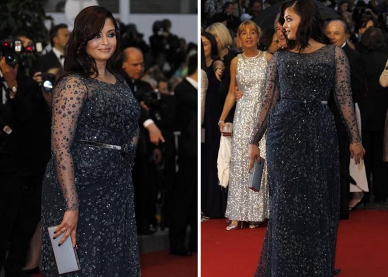 Aishwarya Rai Bachchan and Sonam Kapoor's various looks at Cannes over the years- Aish 2012 1