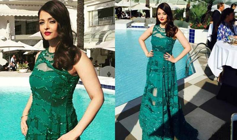 Aishwarya Rai Bachchan and Sonam Kapoor's various looks at Cannes over the years- Aish 2015 3