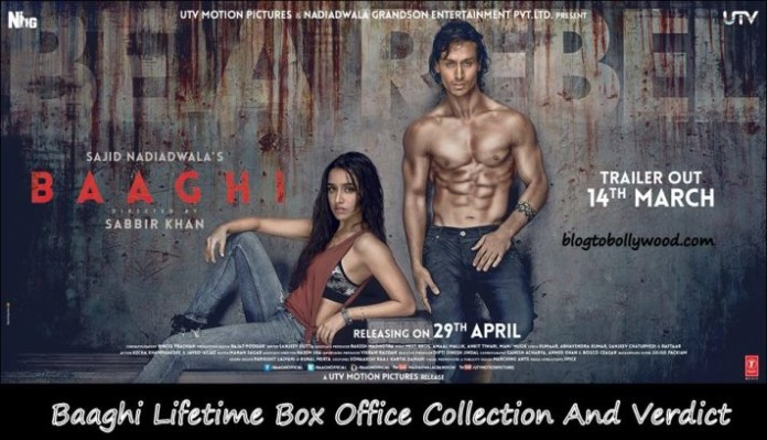 Baaghi Lifetime collection and verdict