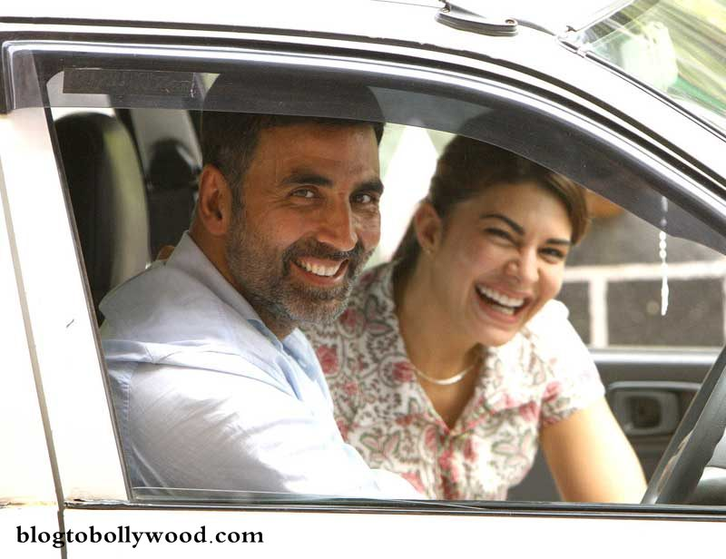 Jacqueline Fernandez gets her comedy training from Akshay Kumar!