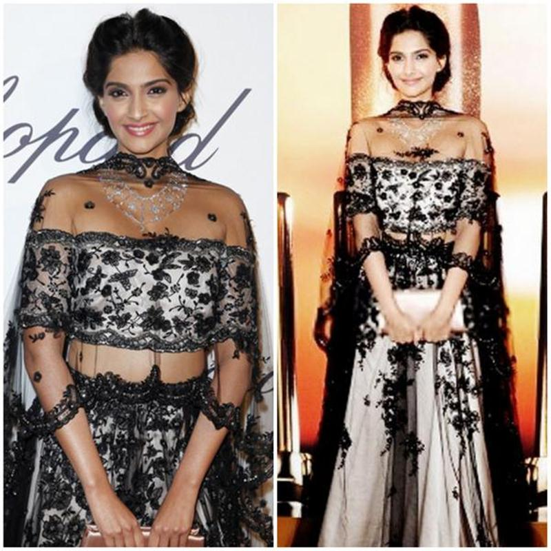 Aishwarya Rai Bachchan and Sonam Kapoor's various looks at Cannes over the years- Sonam 2013 3