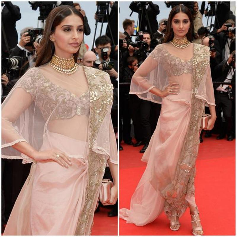 Aishwarya Rai Bachchan and Sonam Kapoor's various looks at Cannes over the years- Sonam 2014 2