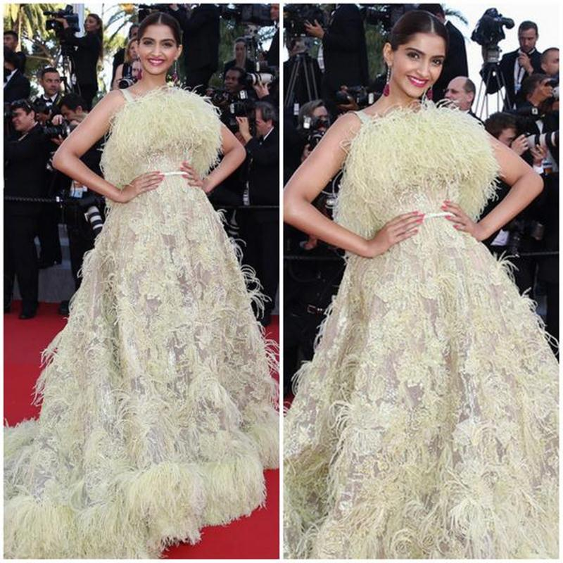 Aishwarya Rai Bachchan and Sonam Kapoor's various looks at Cannes over the years- Sonam 2015 2