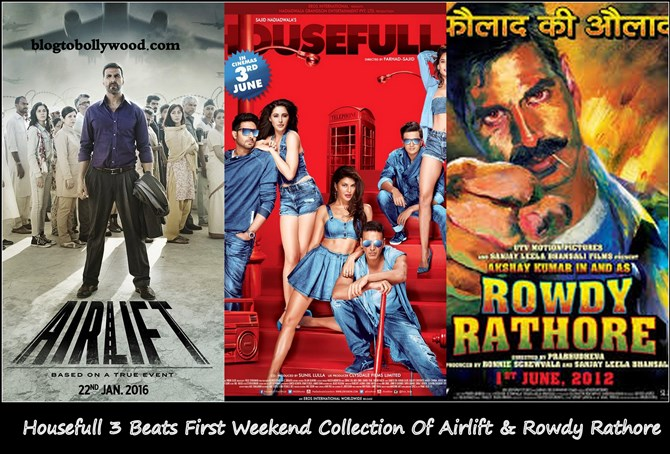Housefull 3 First Weekend Collection | Top Opening Weekend Grosser Of 2016