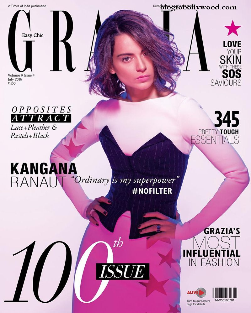 Kangana Ranaut paints a pretty picture in Grazia India Cover