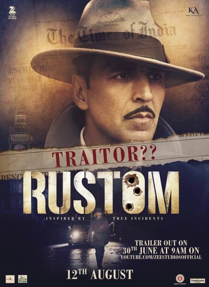 Akshay Kumar Shared Another Intriguing Rustom Poster