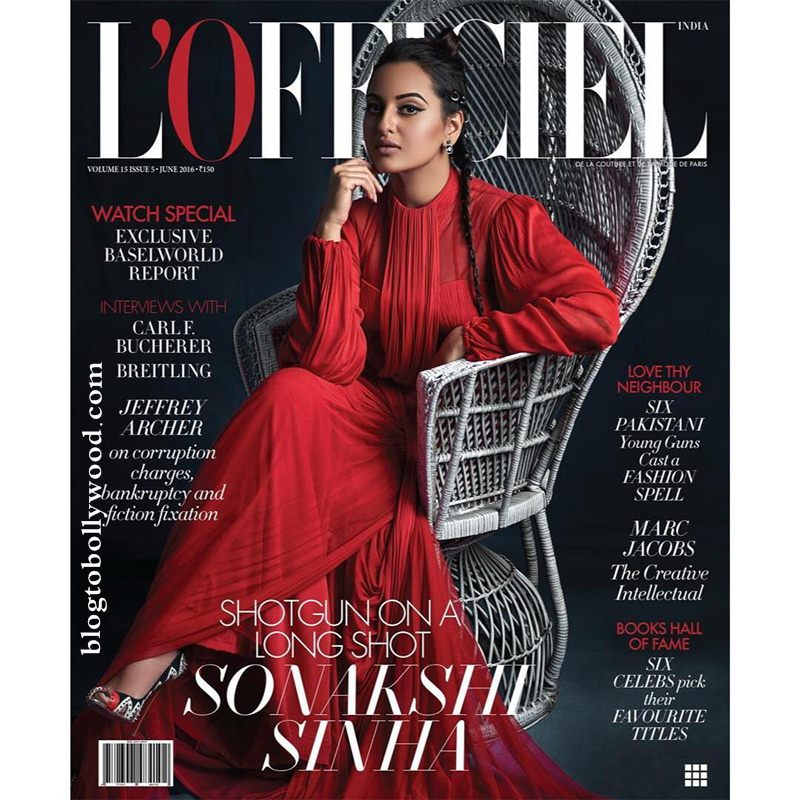Shotgun Sonakshi Sinha rules the cover of L'Officiel India like a boss
