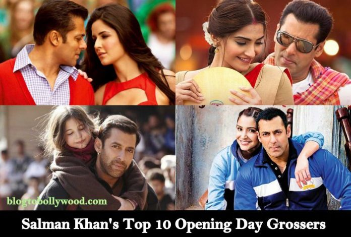 Highest Opening Day Grossers Of Salman Khan