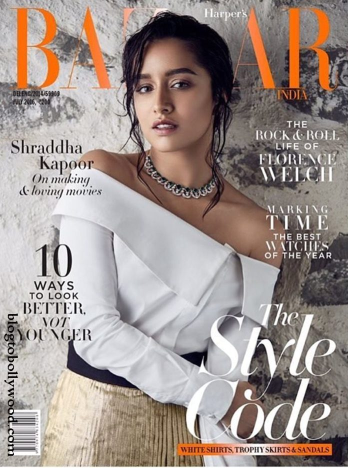 Gorgeousness! Shraddha Kapoor on the cover of Harper's Bazaar