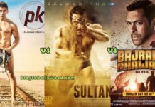Sultan Vs Bajrangi Bhaijaan Vs PK Vs Dhoom 3 First Week Box Office Collection Comparison