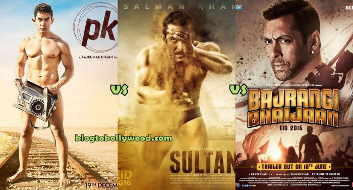 Sultan Vs Bajrangi Bhaijaan Vs PK Vs Dhoom 3 Box Office Collection Comparison